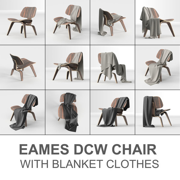 vitra eames chair: plywood 3D model