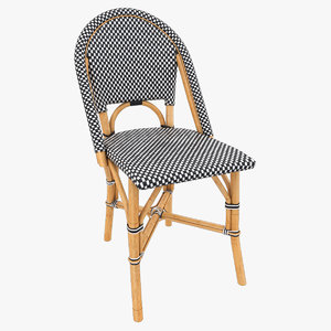 3D model patio dining chair
