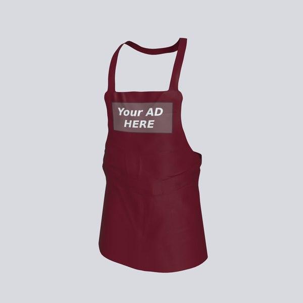 apron clothing fashion 3D model