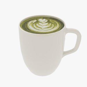 cup matcha 3D