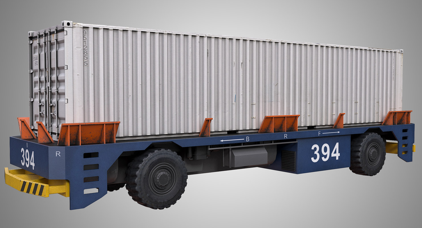 3D automated guided vehicle container