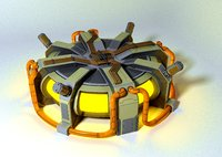 3D model sci-fi thermo nuclear reactor