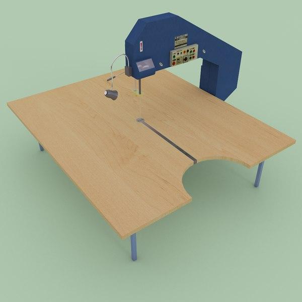 industrial strip cutting machine 3D model