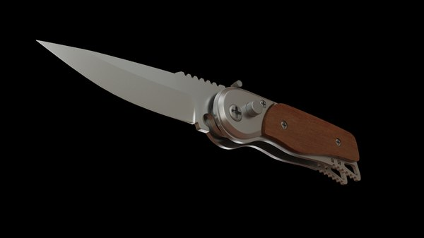 3D model clasp knife blade