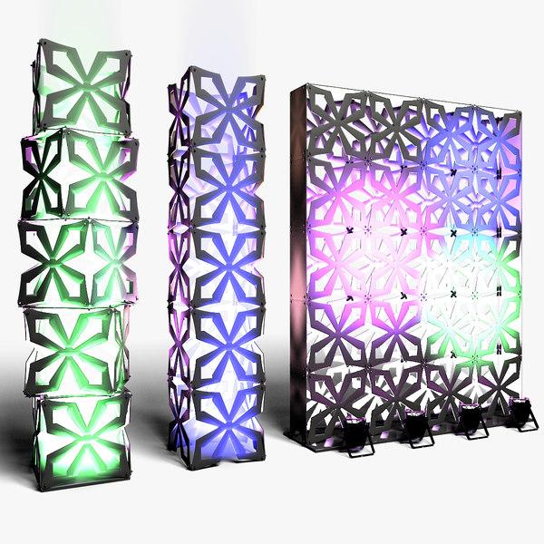 3D stage lights model