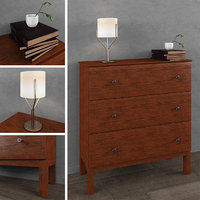 IKEA TARVA Chest of 3 drawers 3D model