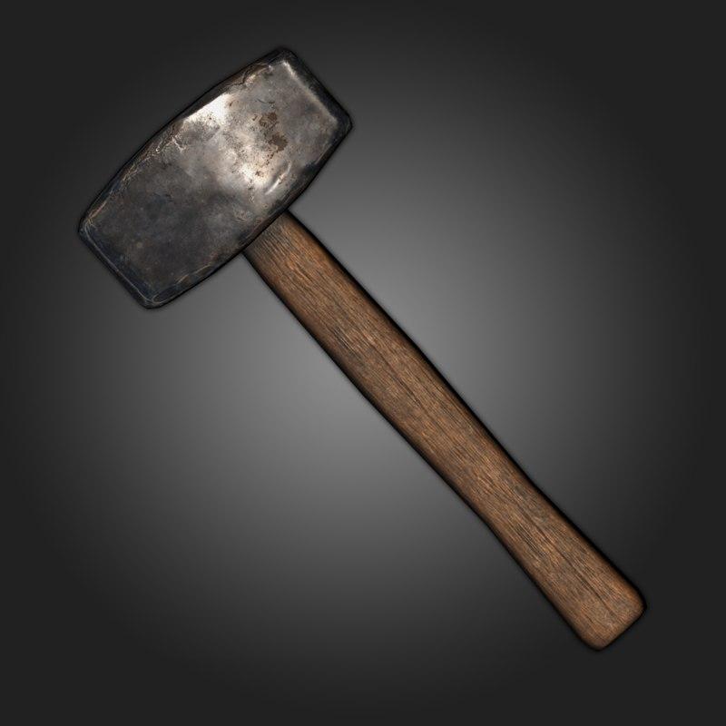 3D sledgehammer model