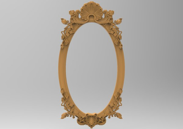 3D frame carving oval model