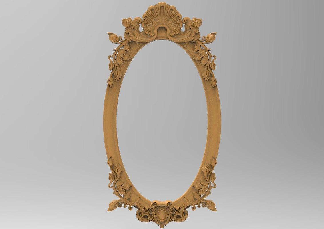 3D frame carving oval model