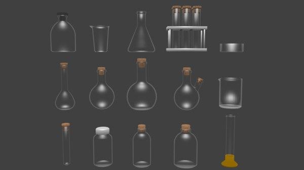 3D model chemical glassware