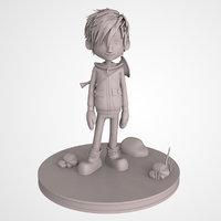 music cartoon boy print 3D