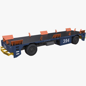 automated guided vehicle 3D model