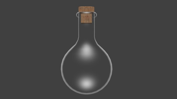 3D flask round-bottomed