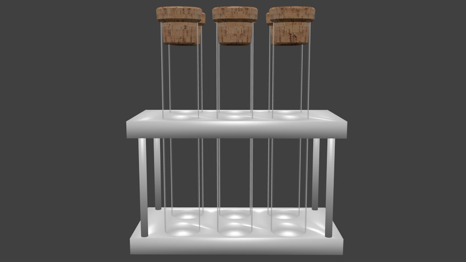 tubes stand 3D model