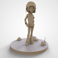 Sophie Cute Cartoon Girl 3D Print High Poly Model 3D print model