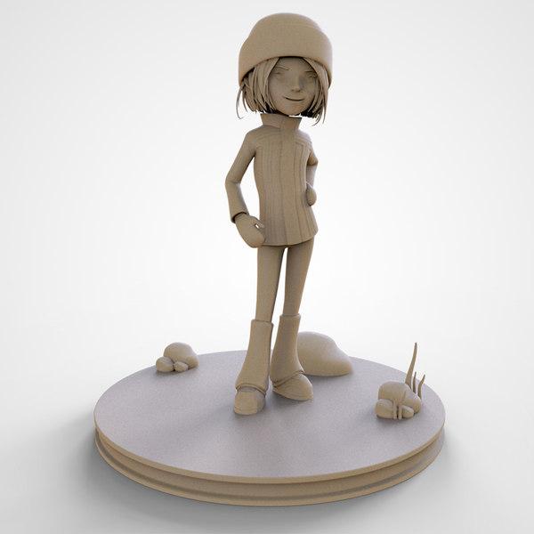 3D sophie cute cartoon girl