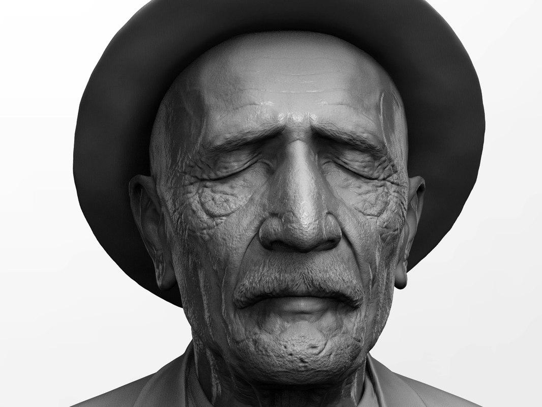 3D asik veysel satiroglu bust model