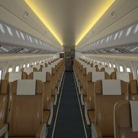 airplane cabin v2 3D model