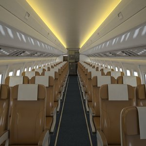 airplane cabin v2 3D model