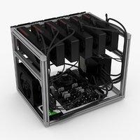 mining rig - 3D model