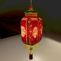 3D chinese red model