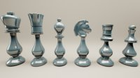 persian oriental chess printable 3D model