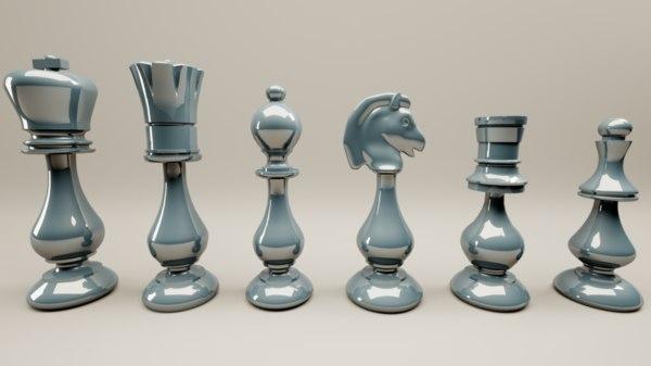 persian oriental chess printable 3D model