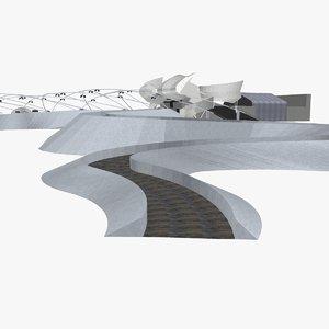 jay pritzker pavilion 3D model