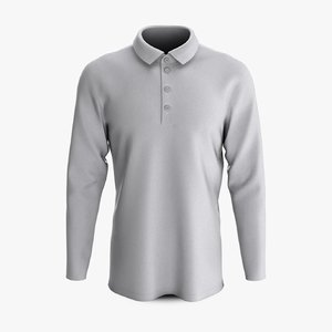 cotton male polo shoulder 3D model