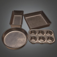 Baking Pans 01 (KTC) - PBR Game Ready