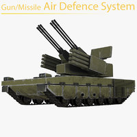 gun missile air defense 3D model