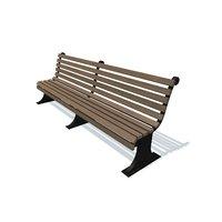 bench usual r v 3D model