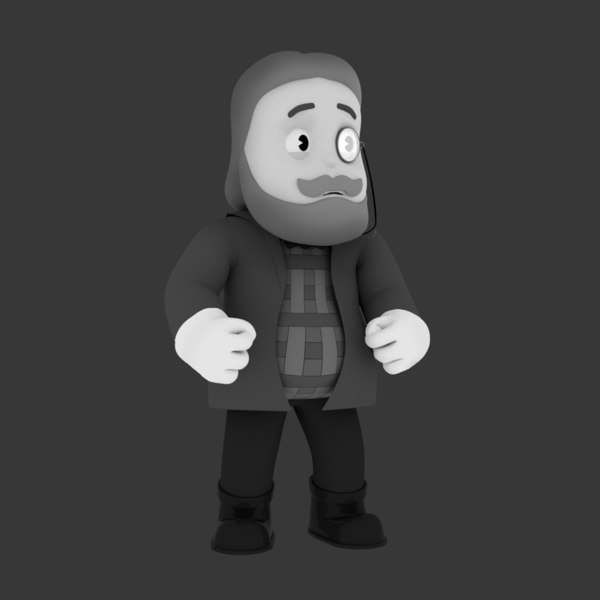 3D model character videogame rig