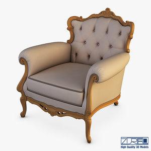 angelo cappellini austen armchair 3D model