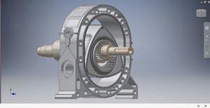 engine rotary wankel 3D model