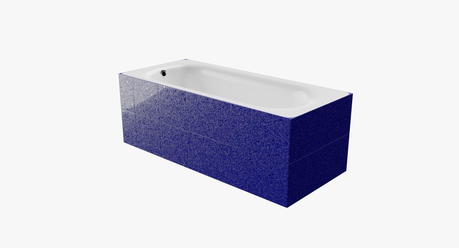 bath-tub tiled blue starlight model