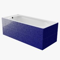 bath-tub tiled blue starlight model