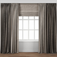 Curtain with window