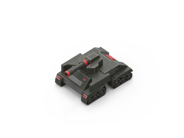3D model toy tank