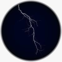 3D realistic lightning model