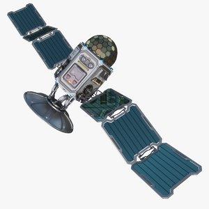 sci-fi satellite 3D model