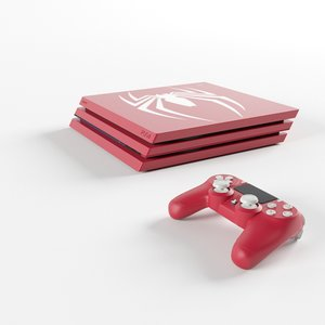 limited edition ps4 spider 3D model