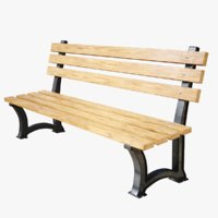 lightwave bench 3D