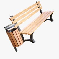 lightwave basket bench 3D model