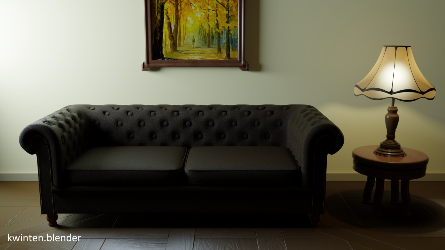 3D chesterfield