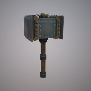 3D hammer hand painted