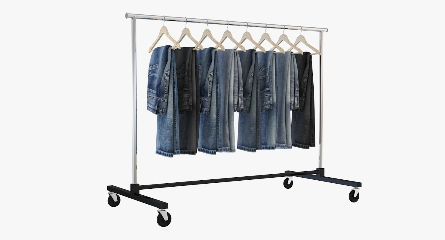 jeans clothing rack 3D model