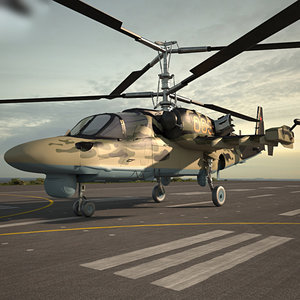 kamov ka-52 ka 3D model