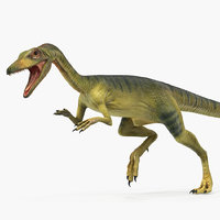 3D compsognathus dinosaur rigged