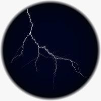 realistic lightning 3D